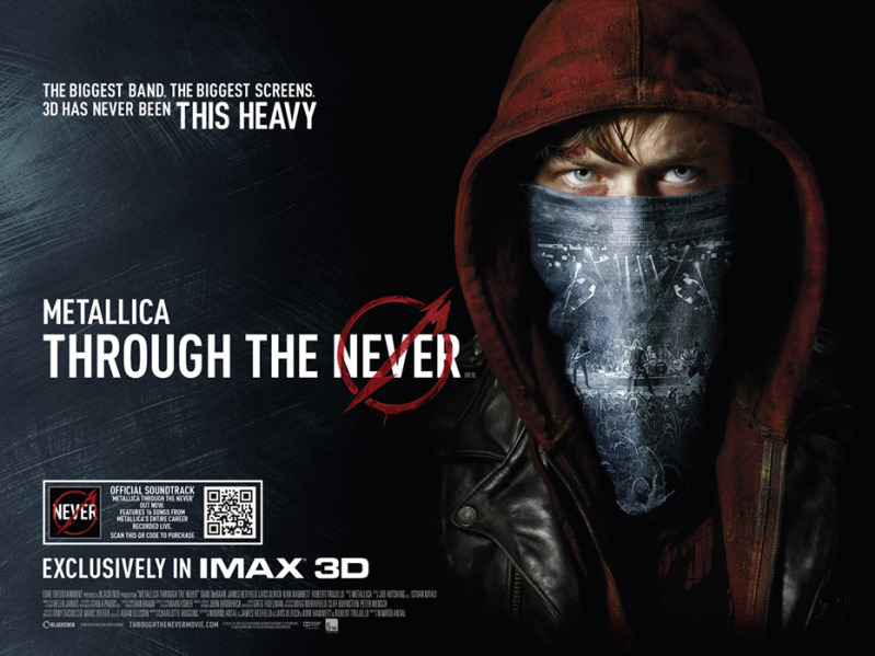 Metallica Through the Never Film Movie Poster Design 2013 Music