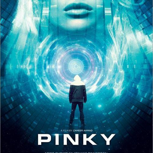 Pinky film poster , sci-fi film poster,science fiction, C&C , coffee and cigarettes