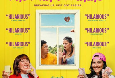 The Breaker Upperers, film poster design, comedy poster, comedy movie poster, coffee and cigarettes.