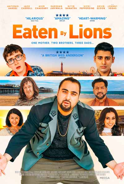 eaten by lions poster, film poster, movie poster, comedy poster, comedy movie 2018, comedy film 2017, comedy poster 2018,