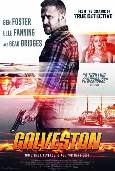 Galevston poster design, film poster design, movie poster design