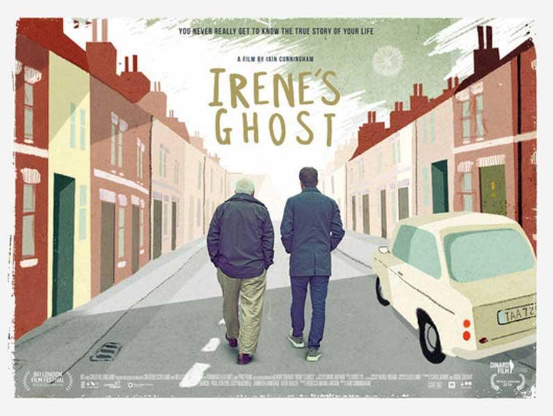 IRENE'S GHOST poster, UK QUAD, film poster, movie poster, creative agency, poster designer