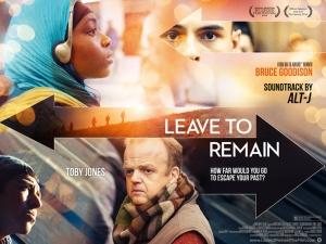 Leave to Remain Film Movie Poster Design 2013 Drama