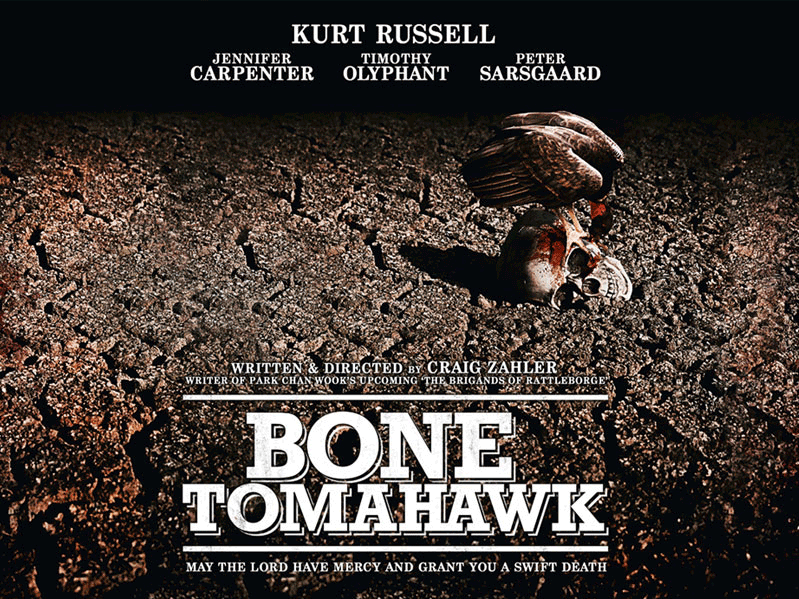 Bone Tomahawk Film Movie Poster Design 2015 horror