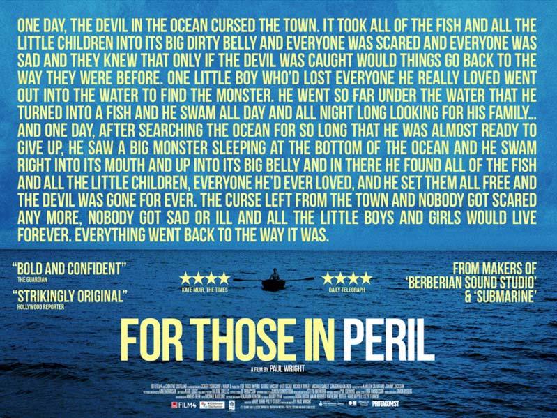 For Those In Peril Film Movie Poster Design 2013 Drama