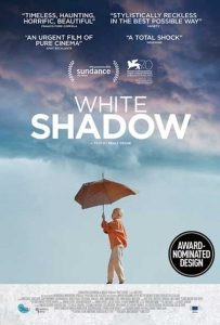 white shadow film poster design