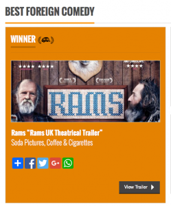 RAMS film Best foreign comedy Coffee and Cigarettes