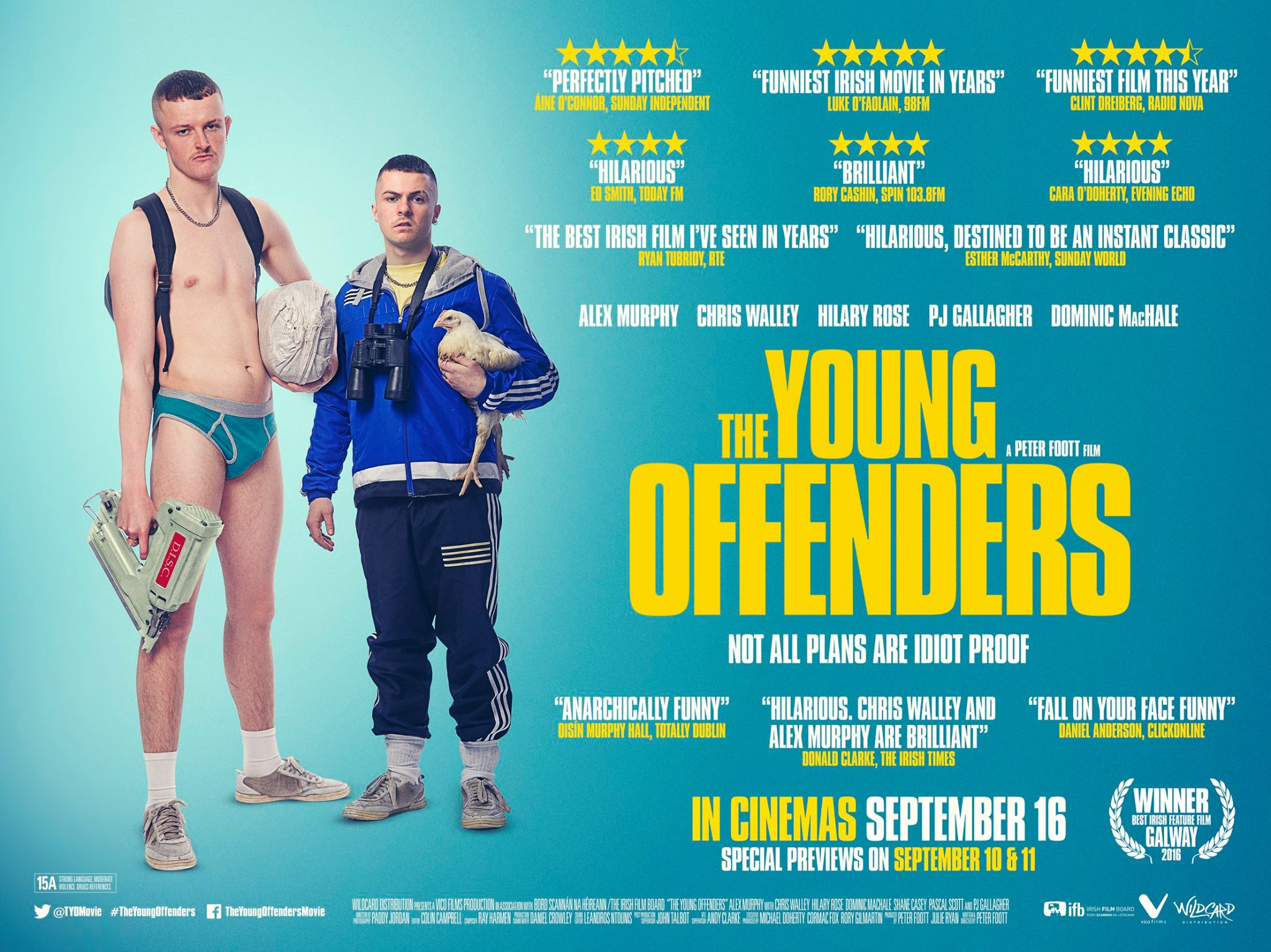 the young offenders film poster design