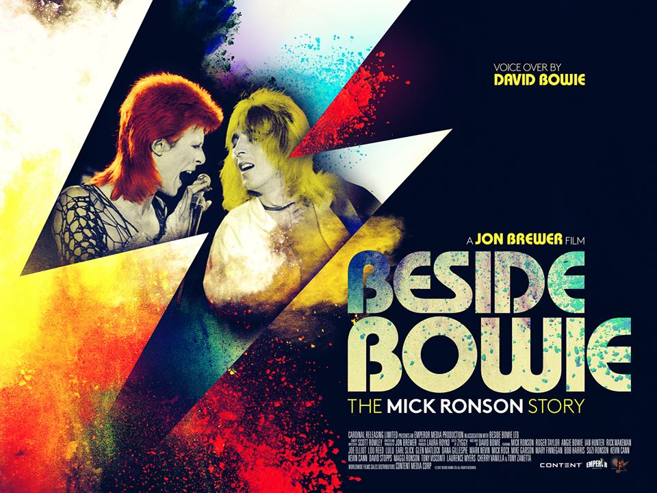 Beside Bowie: The Mick Ronson story Coffee and cigarettes poster design documentary 2017
