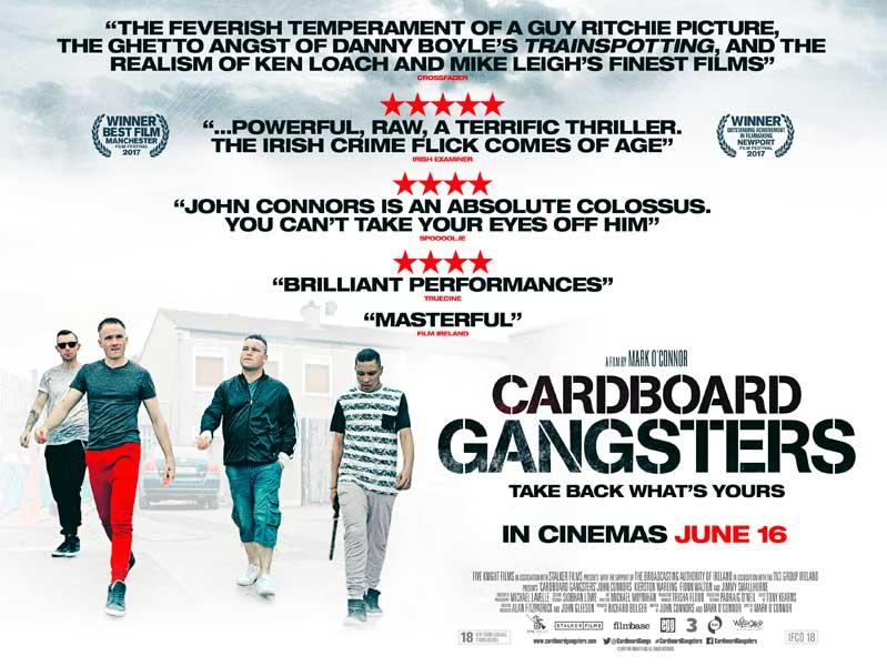 Cardboard Gangsters film poster design by C&C Crime film 2017