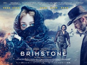 Brimstone film poster design, mystery poster, thriller poster design