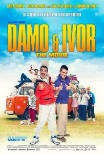 Damo & Ivor, Irish comedy poster design, film poster design, coffee and cigarettes, creative agency