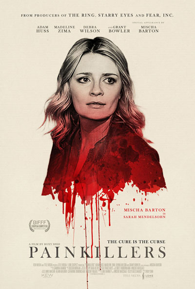 Painkillers movie poster design by coffee and cigarettes, movie poster design, film poster design, drama poster, movie drama poster, Mischa Barton