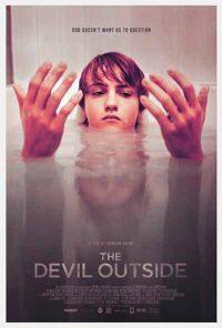the devil outside poster, horror poster , horror film poster 2018, horror movie poster 2018, poster design, film poster design, movie poster design